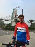 杨贝贝律师在参加自行车运动