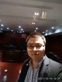2017年10月18日杨贝贝律师在庭审现场照